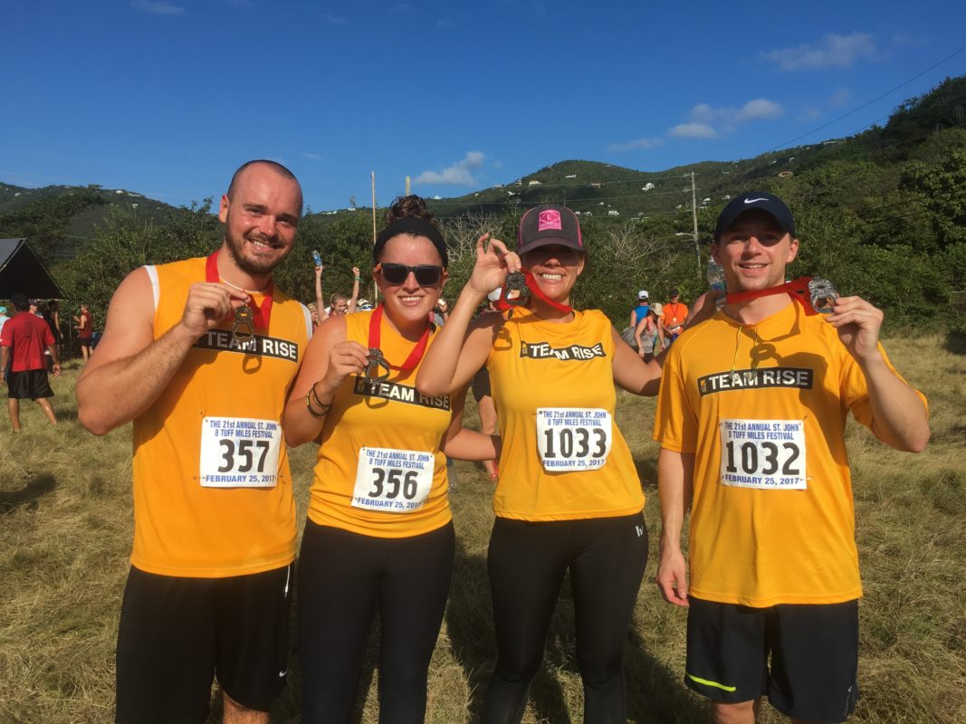 Team RISE in the Virgin Islands